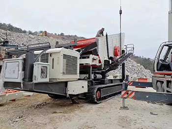 Rubble Master 70 Go Crusher Onsite Recycling
